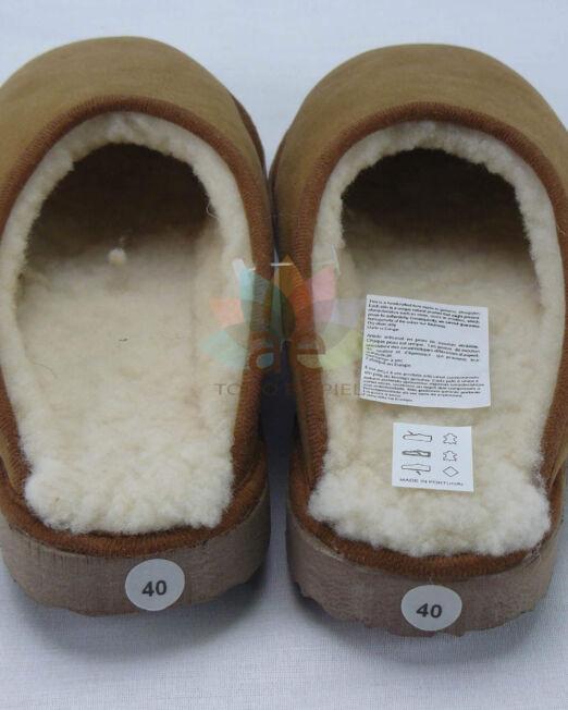 Zapatilla abierta de piel borrego 3