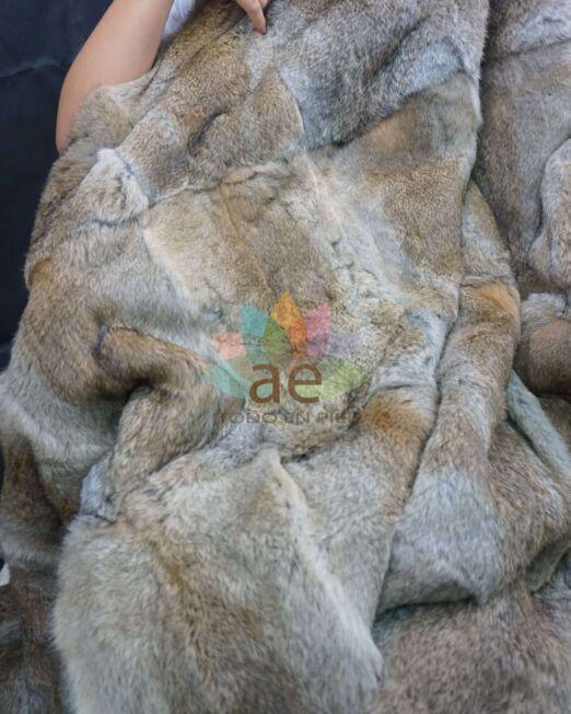 Manta piel conejo chinchilla 2