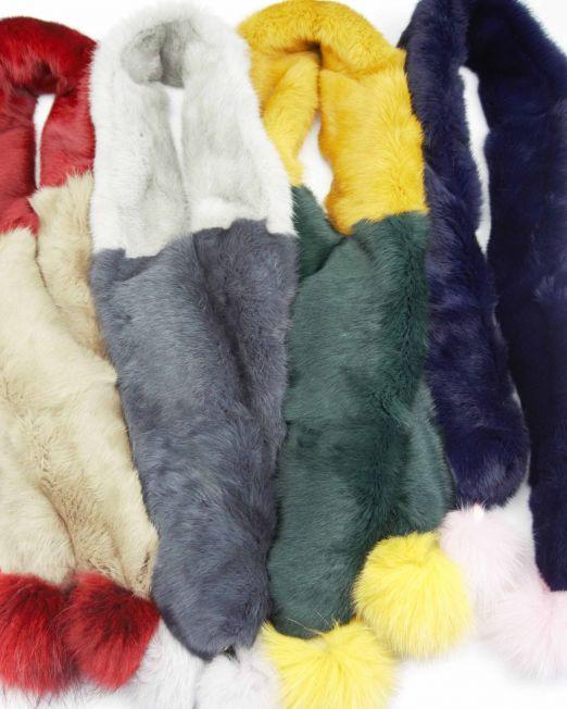 bufandas pompones